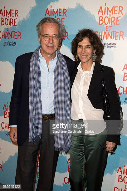 Olivier Orban and Christine Orban attend the premiere of 'Aimer Boire et Chanter' in Paris
