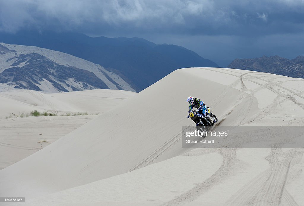 Olivier Pain of team Yamaha Racing France competes in stage 11 from La Rioja to Fiambala during the 2013 Dakar Rally on January 16, 2013 in La Rioja, Argentina.