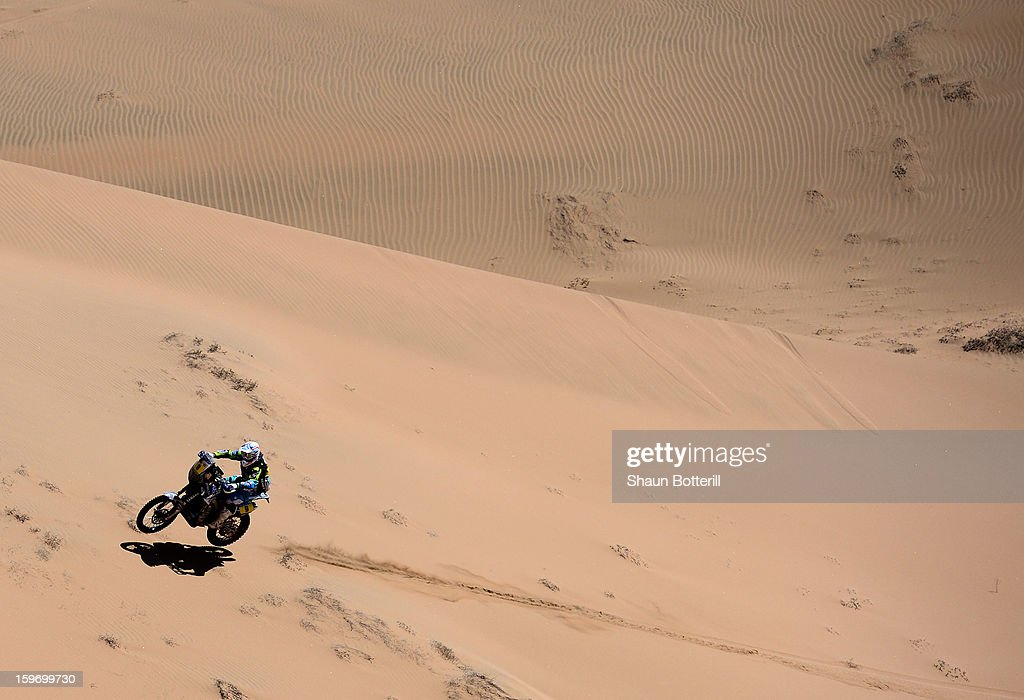 Olivier Pain of Yamaha Racing France competes in stage 13 from Copiapo to La Serena during the 2013 Dakar Rally on January 18, 2013 in Copiapo, Argentina.