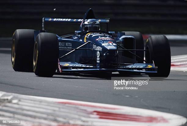 Olivier Panis of France drives the Gauloises Blondes Ligier JS41 Mugen Honda V10 during the Italian Grand Prix on 10 September 1995 at the Autodromo...