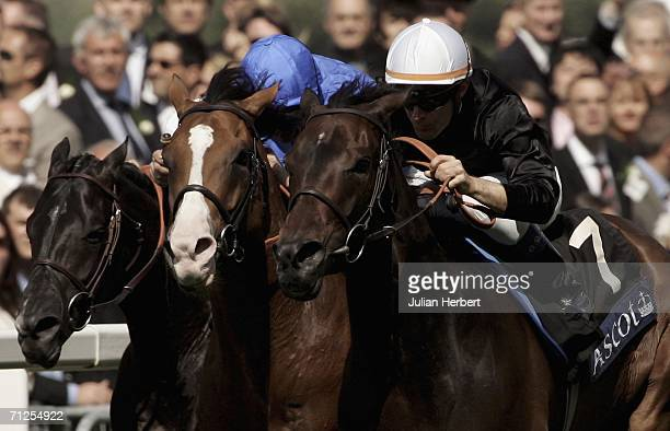 ASCOT ENGLAND JUNE 21 Olivier Peslier and Ouija Board land The Prince Of Wales's Stakes Race run at Ascot on June 21 in Ascot England Today is the...