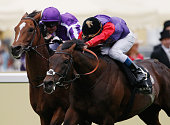 Olivier Peslier riding Dartmouth wins the Hardwicke Stakes on day 5 of Royal Ascot at Ascot Racecourse on June 18 2016 in Ascot England