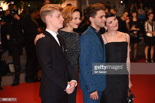 Olivier Pilon Suzanne Clement director Xavier Dolan and Anne Dorval attend the 'Mommy' premiere during the 67th Annual Cannes Film Festival on May 22...