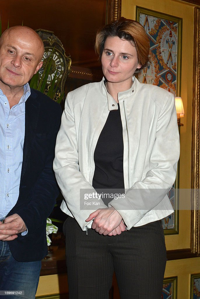 Olivier Poivre d'Arvor and Caroline Fourest attend the 'Procope Des Lumieres 2013 ' Literary Awards Ceremony at Le Procope on January 16, 2013 in Paris, France.