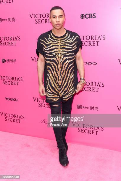Olivier Rousteing attends 2017 Victoria's Secret Fashion Show In Shanghai Pink Carpet Arrivals at MercedesBenz Arena on November 20 2017 in Shanghai...