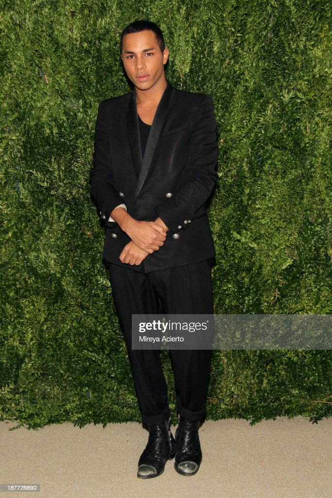 Olivier Rousteing attends CFDA and Vogue 2013 Fashion Fund Finalists Celebration at Spring Studios on November 11, 2013 in New York City.