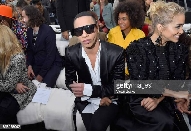 Olivier Rousteing attends Le Defile L'Oreal Paris as part of Paris Fashion Week Womenswear Spring/Summer 2018 at Avenue Des Champs Elysees on October...