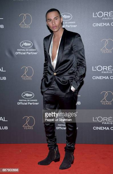 Olivier Rousteing attends the Gala 20th Birthday Of L'Oreal In Cannes during the 70th annual Cannes Film Festival at Martinez Hotel on May 24 2017 in...