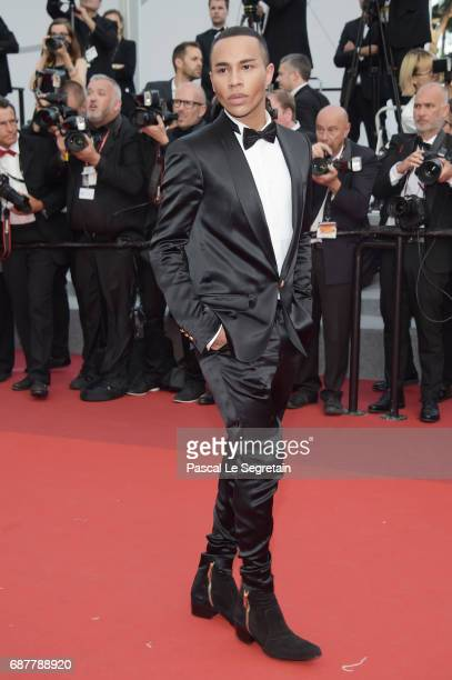 Olivier Rousteing attends the 'The Beguiled' screening during the 70th annual Cannes Film Festival at Palais des Festivals on May 24 2017 in Cannes...