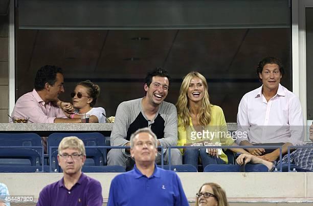 Olivier Sarkozy and girlfriend MaryKate Olsen Heidi Klum and boyfriend Vito Schnabel attend Day 8 of the 2014 US Open at USTA Billie Jean King...