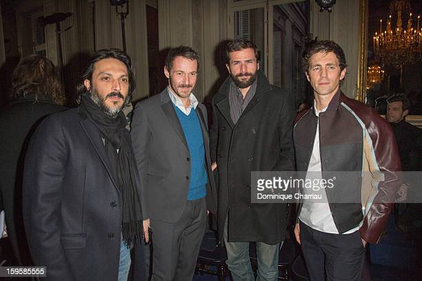 Olivier Sitruk Julien Boisselier Gregory Fitoussi and James Marshall attend the Valentino Men Autumn / Winter 2013 show as part of Paris Fashion Week...