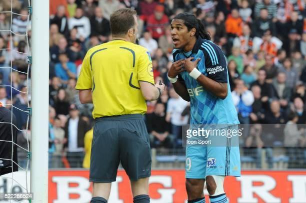 Olivier THUAL / BRANDAO Lorient / Marseille 32 eme journee de Ligue 2 Stade Yves Allainmat Lorient