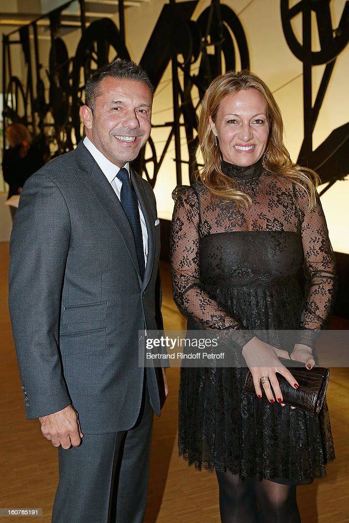 Olivier Widmaier Picasso (L) and his sister Diana Widmaier Picasso attend the 8th Annual Dinner of the 'Societe Des Amis Du Musee D'Art Moderne' at Centre Pompidou on February 5, 2013 in Paris, France.