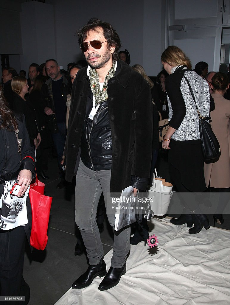 Olivier Zahm attends Reed Krakoff during Fall 2013 Mercedes-Benz Fashion Week on February 13, 2013 in New York City.