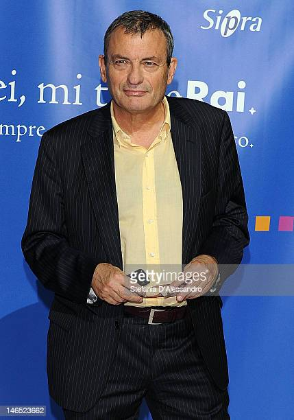 Oliviero Beha attends Presentazione Palinsesti Rai Photocall on June 18 2012 in Milan Italy