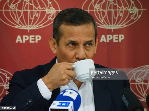 Ollanta Humala former president gave a press conference to foreign correspondents accredited in Peru in which he denied having taken funds from...