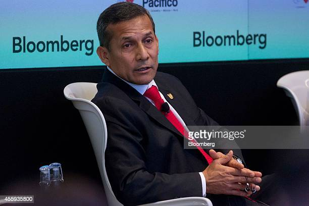 Ollanta Humala Peru's president speaks during the Bloomberg Latin America Forum in New York US on Monday Sept 22 2014 Humala participated in a panel...