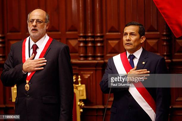 Ollanta Humala takes office as president in Peru on July 28 2011 in Lima Peru He was elected as the new Peruvian president after winning the...