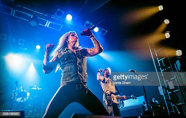 Olli Herman and Jalle Verne of Reckless Love performs at Camden Rocks Festival on JUNE 04 2016 in London England