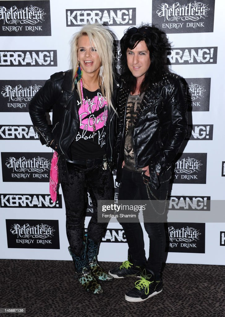 Olli Herman and Pepe of Reckless Love attend the Kerrang! Awards at The Brewery on June 7, 2012 in London, England.