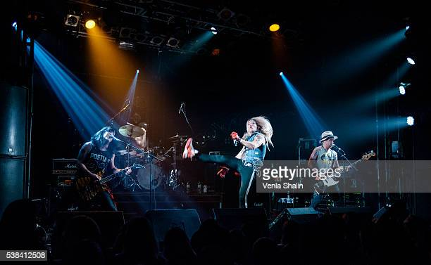 Olli Herman Pepe Reckless Hessu Maxx and Jalle Verne of Reckless Love performs at Camden Rocks Festival on JUNE 04 2016 in London England