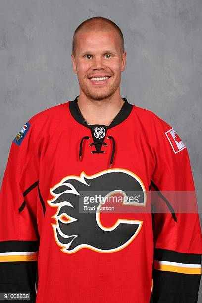 Olli Jokinen of the Calgary Flames poses for his official headshot for the 20092010 NHL season