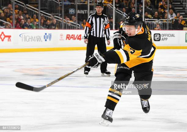 Olli Maatta of the Pittsburgh Penguins skates against the Nashville Predators at PPG Paints Arena on January 31 2017 in Pittsburgh Pennsylvania