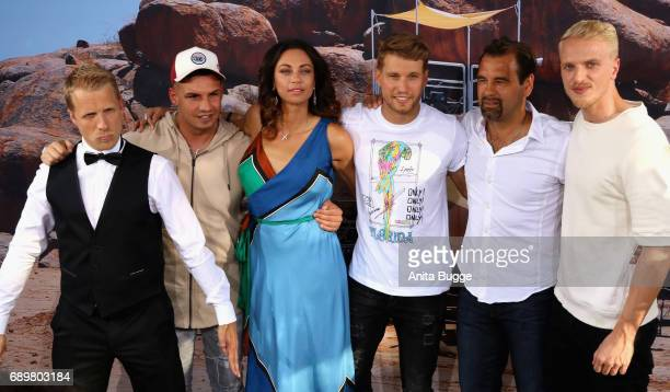Olli Pocher Pietro Lombardi Lilly Becker Raul Richter Ulf Kirsten Mario Galla attend the 'Global Gladiators' exclusive preview at Astor Film Lounge...