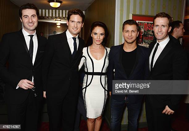 Ollie Baines Stephen Bowman Katya Virshilas Pasha Kovalev and Humphrey Berney of Blake attend the 'You'll Never Walk Alone' Gala Concert in aid of...