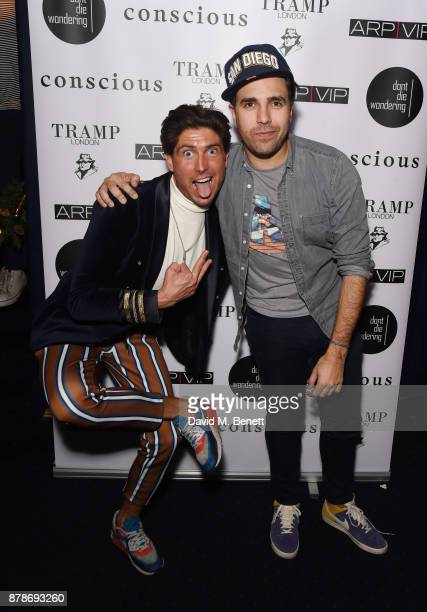 Ollie Chambers and Diego BiveroVolpe attend Ollie Chambers Antoin Commane's annual themed party at Tramp on November 24 2017 in London England