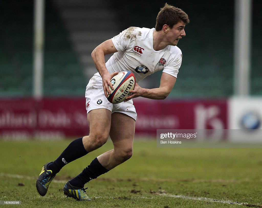 Ollie Devoto of England in action during the U20s RBS Six Nations match between England U20 and France U20 at the Sixways Stadium on February 23, 2013 in Worcester, England.