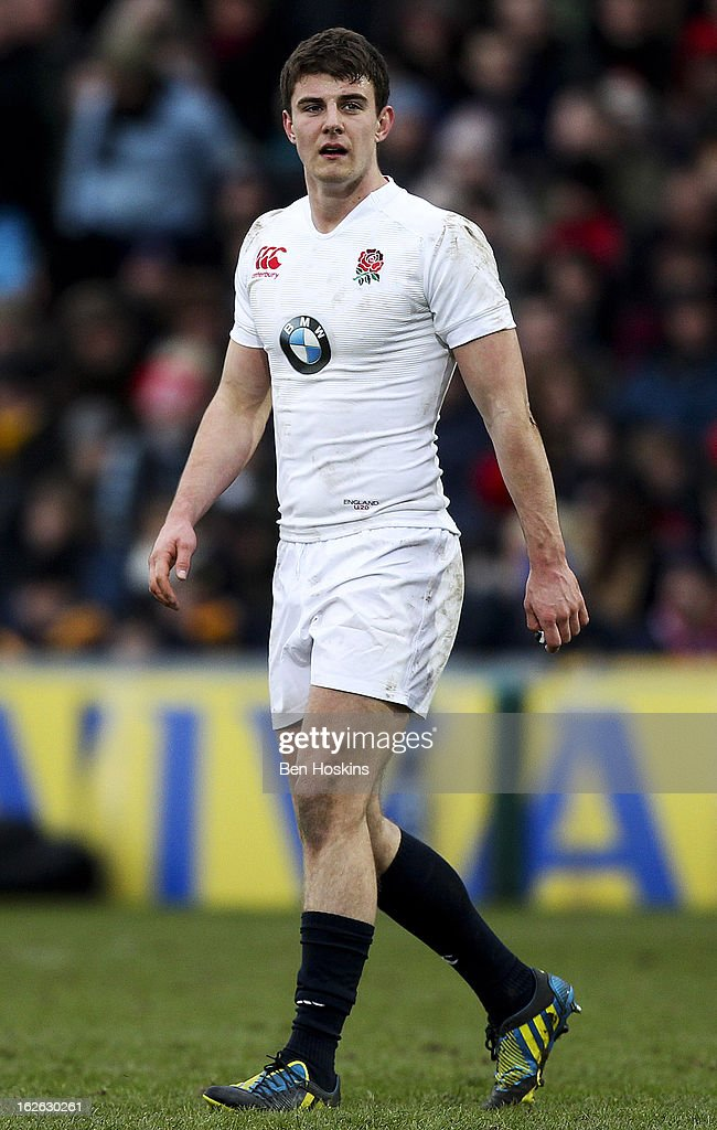 Ollie Devoto of England looks on during the U20s RBS Six Nations match between England U20 and France U20 at the Sixways Stadium on February 23, 2013 in Worcester, England.