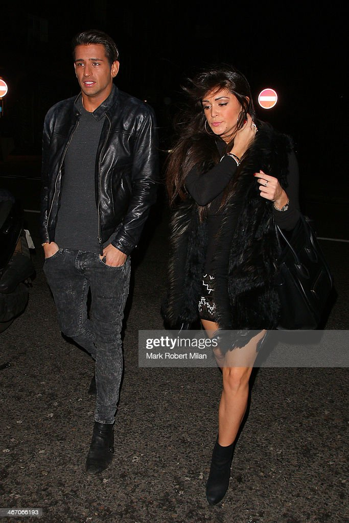 Ollie Locke and Casey Batchelor at The Big Easy restaurant on the Kings Road on February 5, 2014 in London, England.