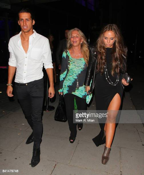 Ollie Locke Tina Green and Chloe Green attend the Midsummer Night's Dream party at The Playboy Club in London