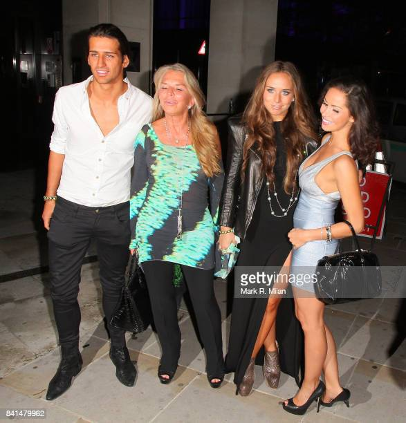 Ollie Locke Tina Green Chloe Green and Gabriella Ellis attend the Midsummer Night's Dream party at The Playboy Club in London