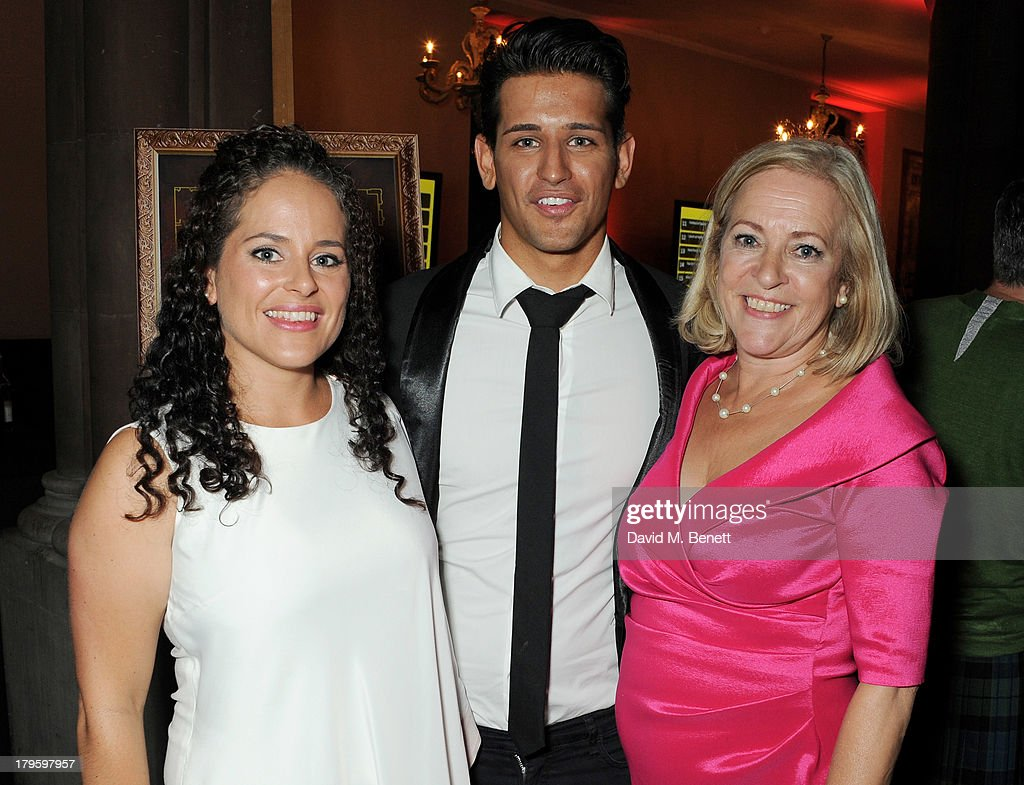 Ollie Locke (C) with sister Amelia (L) and mother Sarah attend the Queen AIDS Benefit in support of The Mercury Phoenix Trust at One Mayfair on September 5, 2013 in London, England.