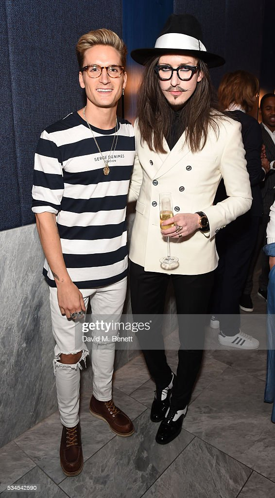 Ollie Proudlock and Joshua Kane attend an Influencers Dinner hosted by PHOENIX Magazine to celebrate their brand relaunch at Patara on May 26, 2016 in London, England.