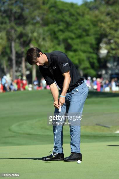 Ollie Schniederjans during the final round of the RBC Heritage Presented by Boeing Golf Tournament on April 16 at Harbour Town Golf Links in Hilton...