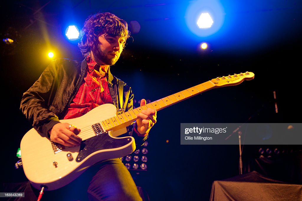 Ollie Walter of The Family Rain performs supporting The Courteeners during a date of the band's Spring 2013 UK tour at the O2 Academy on March 11, 2013 in Leicester, England.