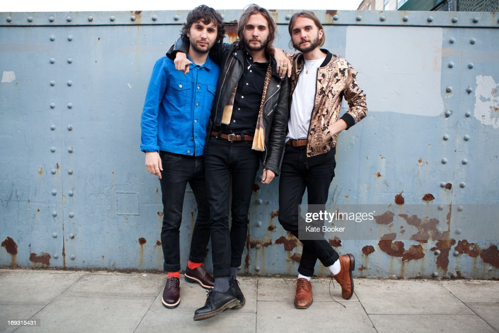 Ollie Walter, William Walter and Timothy Walter of The Family Rain pose for portraits before their gig at Scala on May 22, 2013 in London, England.