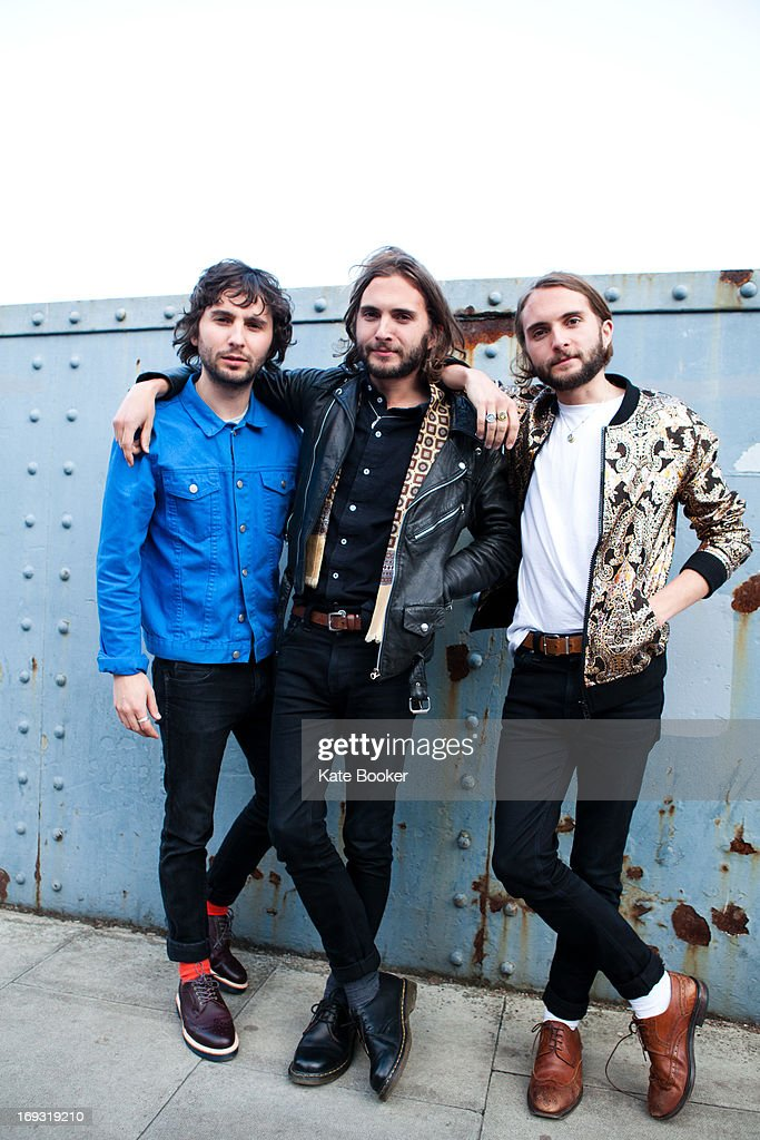 Ollie Walter, William Walter and Timothy Walter of The Family Rain, pose for portraits before their gig supporting Deap Valley at Scala on May 22, 2013 in London, England.