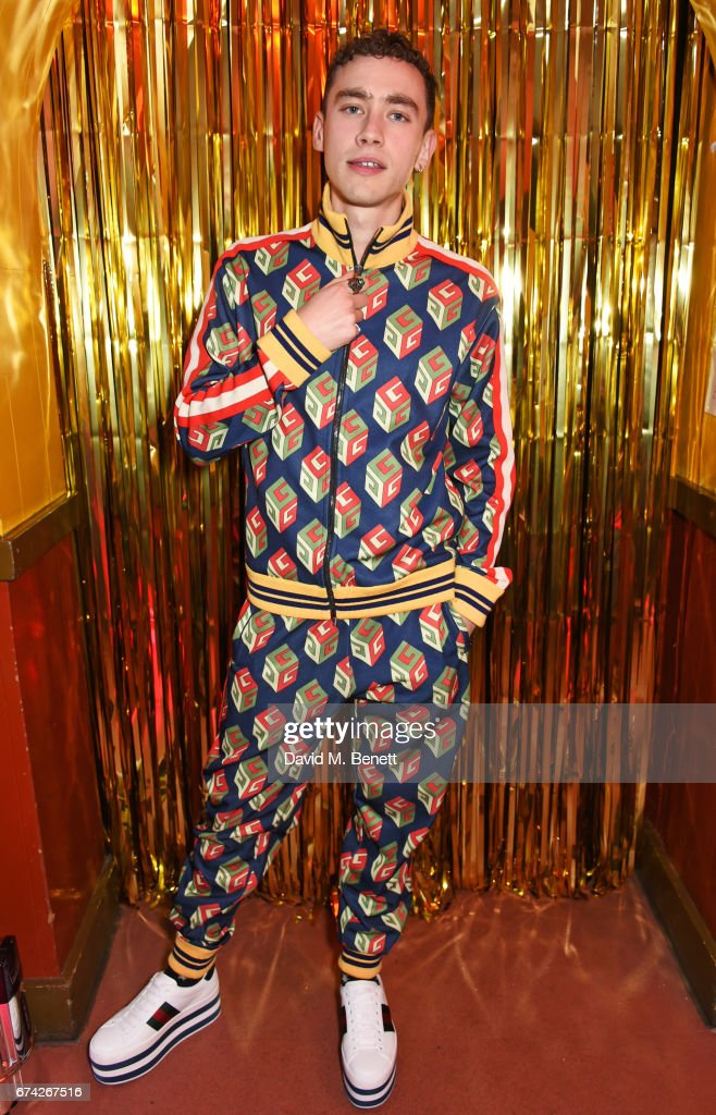 Olly Alexander attends the Gucci and i-D party celebrating the Gucci Pre-Fall 2017 campaign at the Mildmay Club in Stoke Newington on April 27, 2017 in London, England.