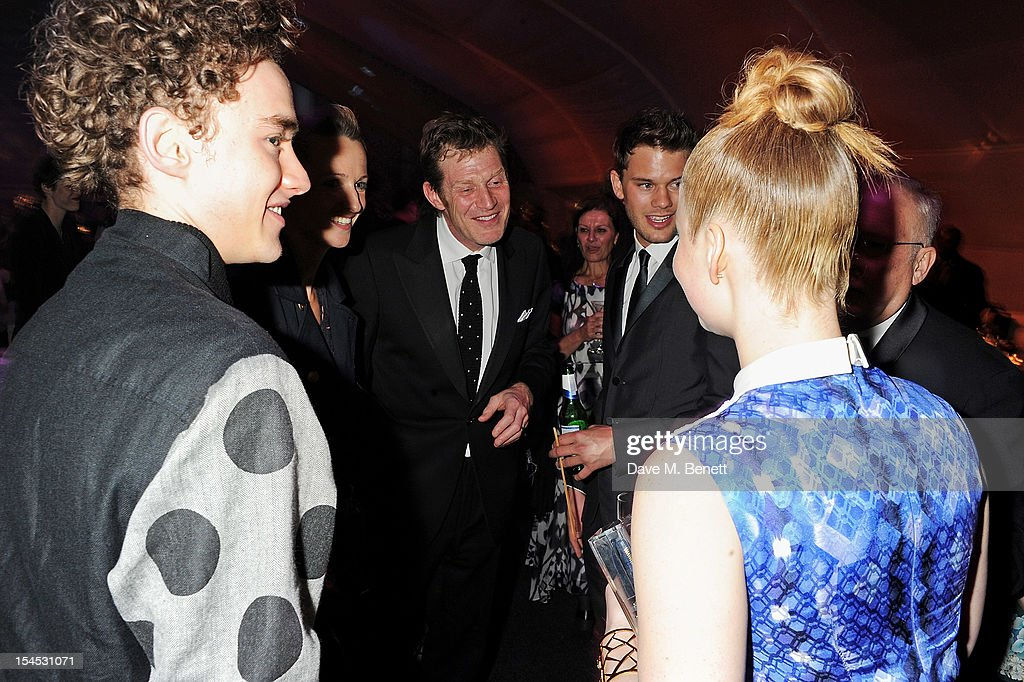 Olly Alexander, Jason Flemyng, Jeremy Irvine and Holliday Grainger attend an after party following the Gala Premiere of 'Great Expectations' which closes the 56th BFI London Film Festival at Battersea Power station on October 21, 2012 in London, England.
