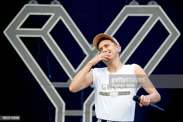 Olly Alexander of Years and Years performs at V Festival at Weston Park on August 20 2016 in Stafford England