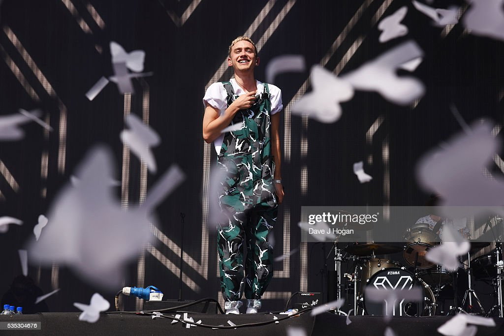 <a gi-track='captionPersonalityLinkClicked' href=/galleries/search?phrase=Olly+Alexander&family=editorial&specificpeople=5861723 ng-click='$event.stopPropagation()'>Olly Alexander</a> of Years and Years performs during day 2 of BBC Radio 1's Big Weekend at Powderham Castle on May 29, 2016 in Exeter, England.