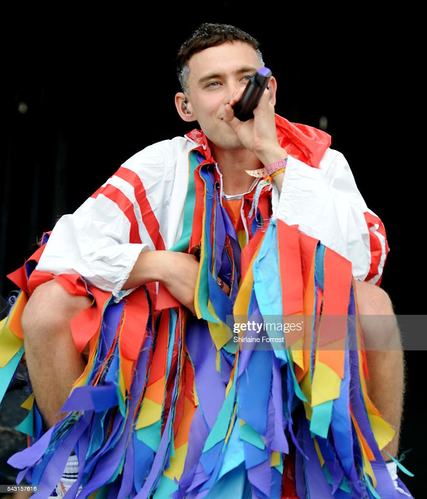 <a gi-track='captionPersonalityLinkClicked' href=/galleries/search?phrase=Olly+Alexander&family=editorial&specificpeople=5861723 ng-click='$event.stopPropagation()'>Olly Alexander</a> of Years and Years performs on The Other Stage at Glastonbury Festival 2016 at Worthy Farm, Pilton on June 25, 2016 in Glastonbury, England.