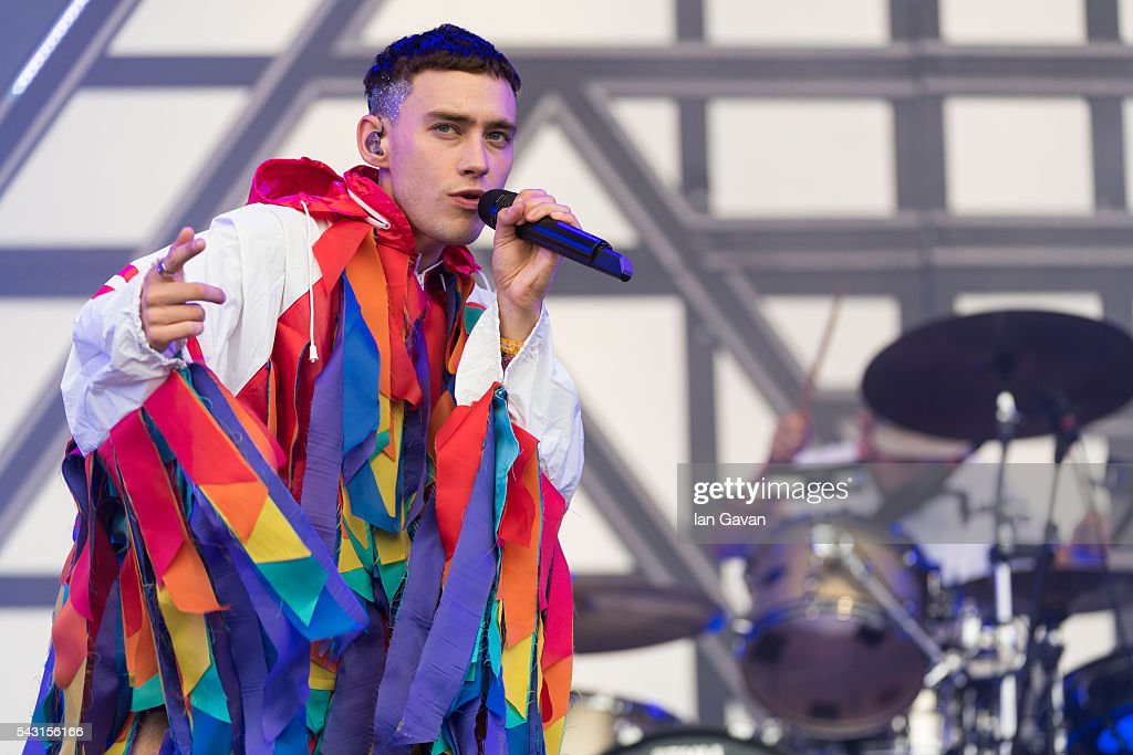 <a gi-track='captionPersonalityLinkClicked' href=/galleries/search?phrase=Olly+Alexander&family=editorial&specificpeople=5861723 ng-click='$event.stopPropagation()'>Olly Alexander</a> of 'Years And Years' performs on the Other Stage on day 2 of the Glastonbury Festival at Worthy Farm, Pilton on June 26, 2016 in Glastonbury, England. Now its 46th year the festival is one largest music festivals in the world and this year features headline acts Muse, Adele and Coldplay. The Festival, which Michael Eavis started in 1970 when several hundred hippies paid just £1, now attracts more than 175,000 people.