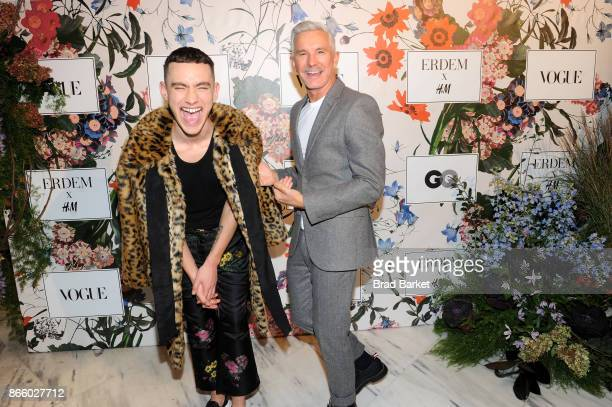 Olly Alexander of Years Years and Baz Luhrmann attend the ERDEM X HM Exclusive Event at HM Flagship Fifth Avenue Store on October 24 2017 in New York...