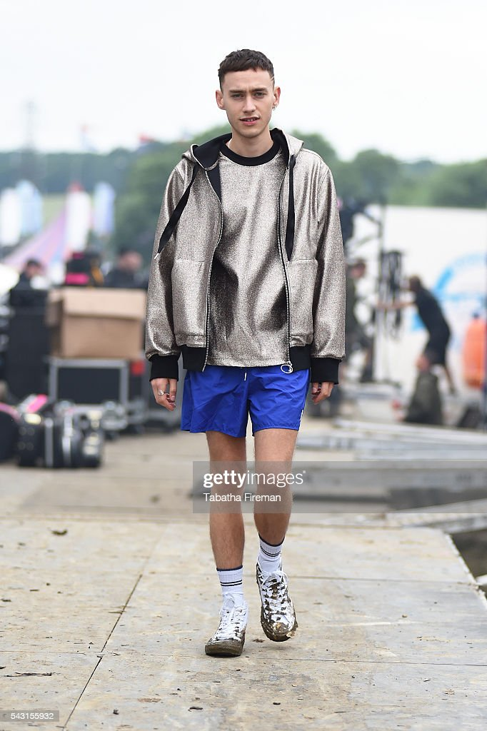 <a gi-track='captionPersonalityLinkClicked' href=/galleries/search?phrase=Olly+Alexander&family=editorial&specificpeople=5861723 ng-click='$event.stopPropagation()'>Olly Alexander</a> of Years & Years wears Converse at Glastonbury Festival 2016 at Glastonbury Festival Site on June 26, 2016 in Glastonbury, England.