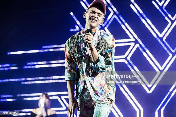 Olly Alexander of Years Years headlines Party in the Parc at Coopers Field on August 12 2016 in Cardiff Wales